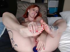 Feet, Painted Toes & Anal Dildo Play