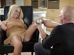 All, Blonde, Couple, Cum, Food, MILF