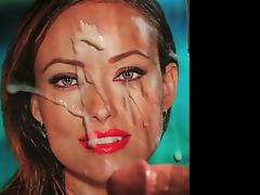 Olivia Wilde facial tribute cum pic by Joesuperthing