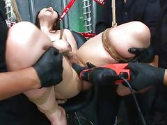 Bondage, Asian, Banging, Big Tits, Blowjob, Bondage