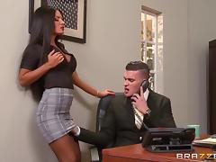Office, Big Tits, Blowjob, Couple, Cumshot, Facial