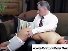 Older gay man spanks and jerks young straight guy