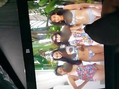 requested cum tribute to indian bikini babes