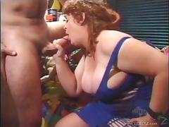 BBW Jenny Joyce gives blowjob then fucked missionary while she yells