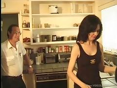 Naughty amateur housewife gets drilled by a horny visitor