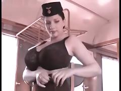 Big boobs conductress
