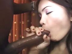 Asian babe connie macks big black cock