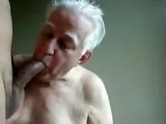 Grandpa suck till cum