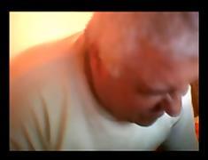 chubby grandpa wanking