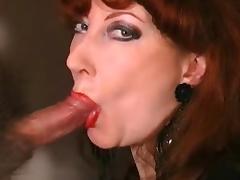 Lipstick, Blowjob, Lingerie, Lipstick, Mature, Old