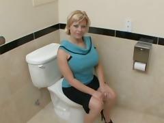 big tits in the bathroom