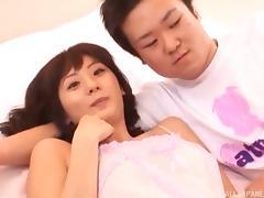 Japanese, Asian, Bed, Big Tits, Boobs, Close Up