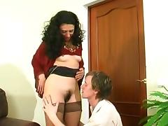 Hung stud falls for lingerie clad milf's charm and gets fucked hardcore