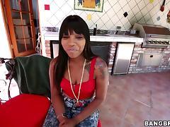 Solo Model Ebony Gets Pinned Hardcore Doggystyle Indoors