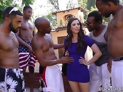 Interracial, Banging, Black, Ebony, Gangbang, Group