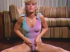 Aerobics, Blonde, Dance, Jerking, Masturbation, Vintage
