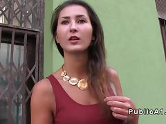 Hungarian amateur fucks in public