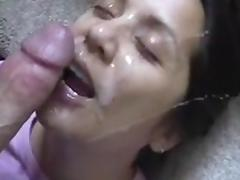 dirty talking laughing girlfriend gets a big facial