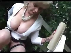 Big Tits, Big Tits, Masturbation, Outdoor, Lady