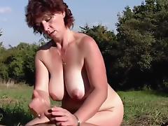 Mom and Boy, Amateur, Big Tits, Boobs, German, Hairy