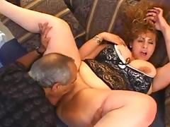 Huge boobed BBW interracial anal