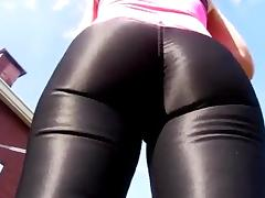 Latex, Amateur, Latex, Nylon, Spandex, Leggings