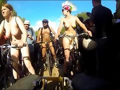 Biker, Beach, Biker, Cameltoe, Flashing, Nudist