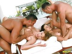 4some, Foursome, Fucking, Group, Orgy, Pussy