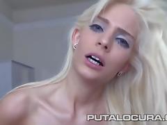 PUTA LOCURA Sweet Hunagrian Barbie swallows it all