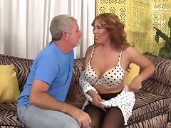 Big dick hammers a curvy milf slut in sexy stockings
