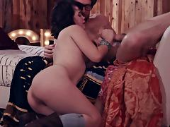 Tantalizing milf in a cock sucking action in a hardcore orgy