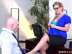 Office, Big Tits, Blonde, Boobs, Boss, Couple