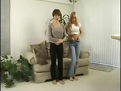 two naked girls ballgagged