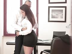 Office, Blowjob, Boss, Brunette, European, Hardcore