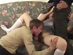 college girl fucked by not dad and not son at once