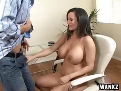 Big dick satisfies milf Stephanie Wylde and cums on her tits