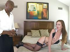 Stella Daniels finally experiences the interracial pussy-ramming