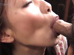 Shuri Maihama Blows the Veggie Man (Uncensored JAV)