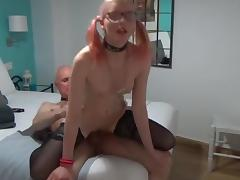 Horny Angel and dirtty Grand - age is no excuse 4 sex