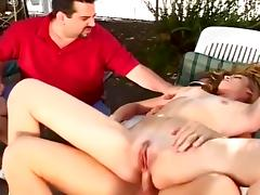 Mrs H Wall Fucks Best Buddys On The Porch