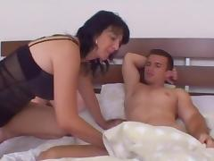 Old   junior - stepmom wakes stepson for early morning fuck