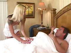 Faye's experienced lover is here to give her a cock to ride on