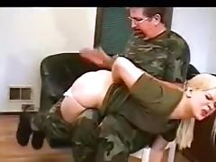 Military, Army, Spanking, Lady, Military