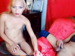 Two Asian Ladyboy suck fuck