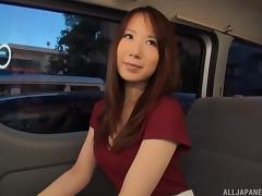 Backseat, Asian, Backseat, Banging, Brunette, Car
