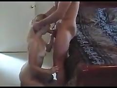 Wife moaning and grunting on her 1st big cock