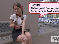Schoolgirl meets up with a guy onlline
