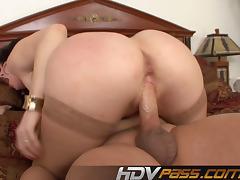 Hot Big Tits Milf Ray Veness Ride a Big Cock and Cum on Tits