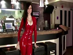 Catsuit, Catsuit, Cougar, Latex, Red