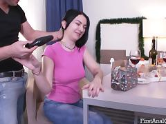 Pale girl has a great present for her ass craving stallion